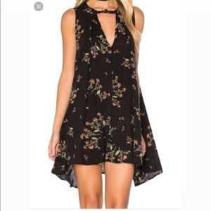Free People Floral Snap Out Of It Swing Dress